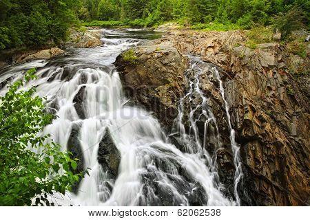 Waterfall at Chutes provincial park, Ontario, Canada