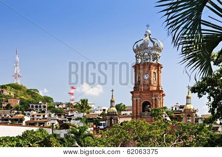 Our Lady of Guadalupe church in Puerto Vallarta, Jalisco, Mexico