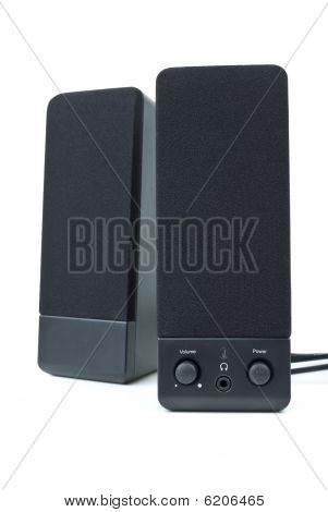 Cheap Black Computer Stereo Audio System
