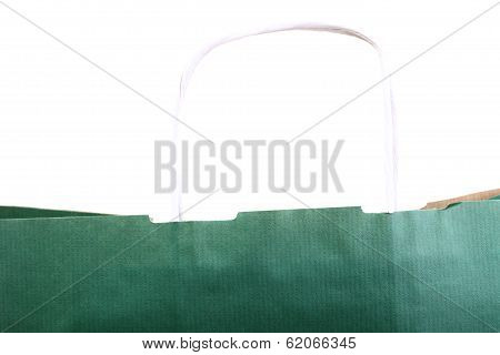 Shopping Green Gift Bags And Apple Isolated
