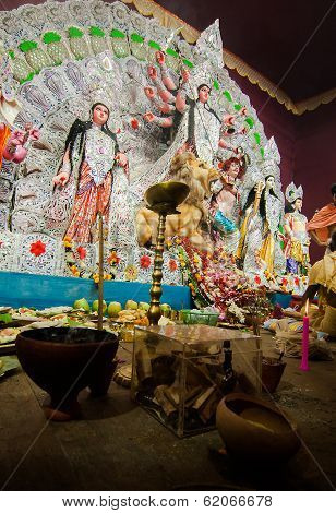 Kolkata , India - October 12, 2013 : Durga Puja Festival