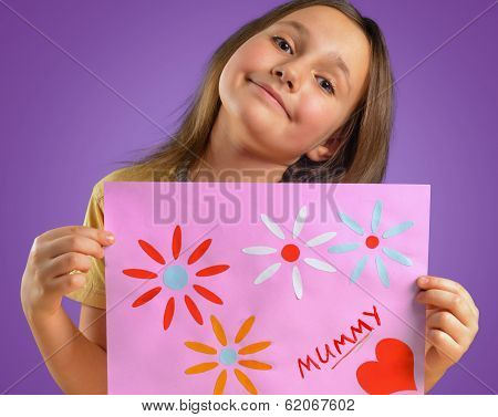 Child With Card For Mother