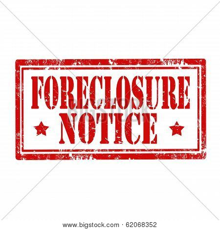 Foreclosure Notice stamp