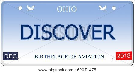 Discover Ohio Imitation License Plate
