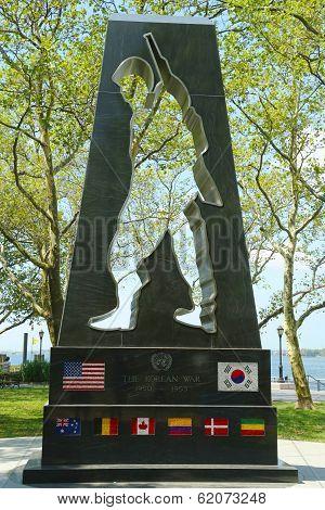 Korean War Memorial in Battery Park
