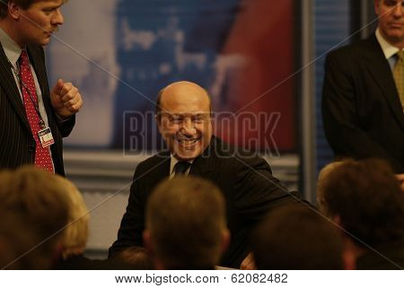 BRATISLAVA, SLOVAKIA - FEBRUARY 24:  Russian foreign minister Ivan Ivanov attend the press conference of United States President George W. Bush and Vladimir Putin in the Slovak capital, Bratislava on February 24, 2005 in Bratislava, Slovakia