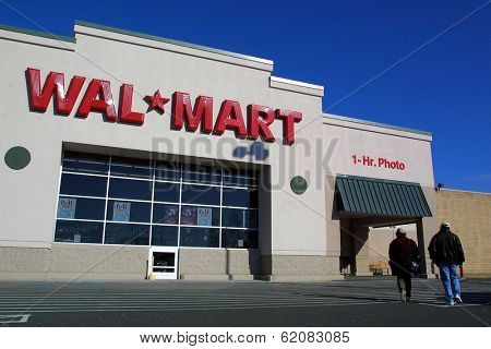 SADDLE BROOK, NEW JERSEY - NOV 30: A Wal Mart store on November 30, 2003 in northern New Jersey. Wal Mart is the world's largest retailer.