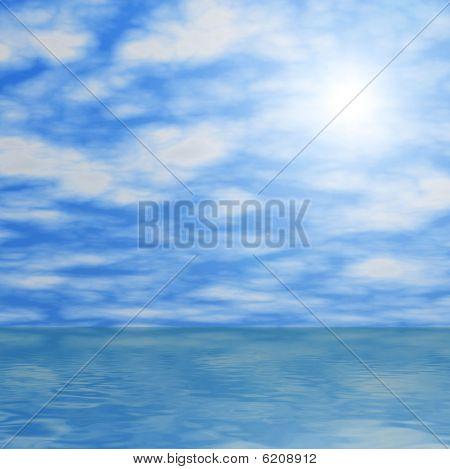 Cloud Reflections in Ocean