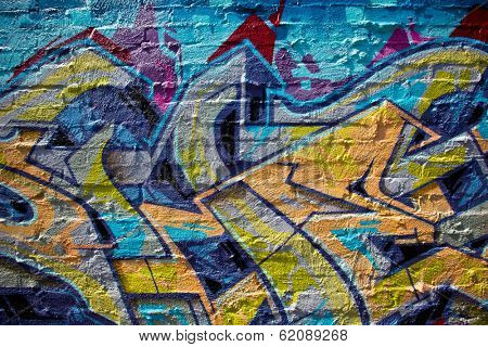 MELBOURNE, AUSTRALIA - MARCH 20 2014: Street art by unidentified artist. Melbourne's graffiti management plan recognises the importance of street art in a vibrant urban culture