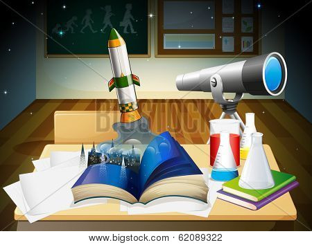 Illustration of a science laboratory