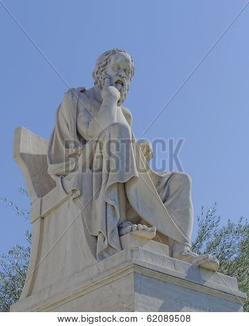 Socrates the ancient philosopher statue