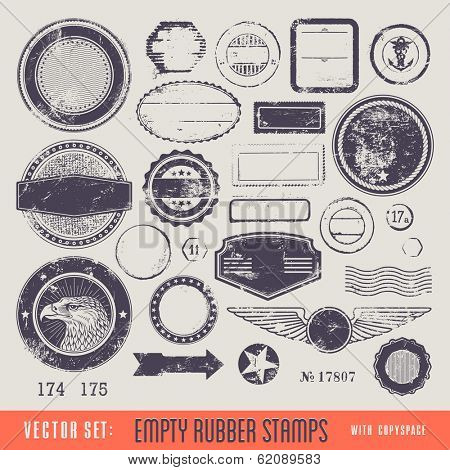 empty rubber stamps with copyspace for your text and/or illustration poster