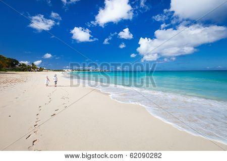 Beautiful tropical beach at Anguilla, Caribbean