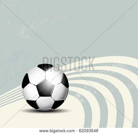 Grunge blue soccer ball background