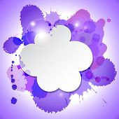 cloud with purple blot