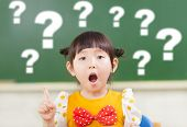 Astonishment Little Girl Is Full Of Questions