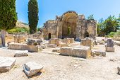 Monastery (friary) In Messara Valley At Crete Island In Greece. Messara - Is  Largest Plain In Crete