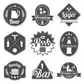 Alcohol beer labels badges collection
