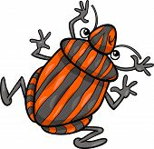 picture of shield-bug  - Cartoon Illustration of Funny Shield Bug Insect Character - JPG