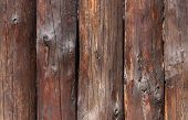 picture of log fence  - close up of wooden fence made of logs - JPG