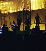 WASHINGTON DC - JULY 10: The band Pink Floyd plays in concert at RFK Stadium in Washington, D.C. on