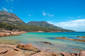 stock photo of wombat  - The Turquoise Waters off the Tasmanian Coast - JPG