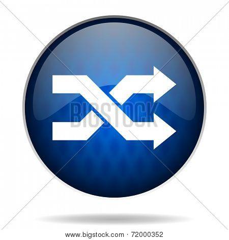 aleatory internet blue icon