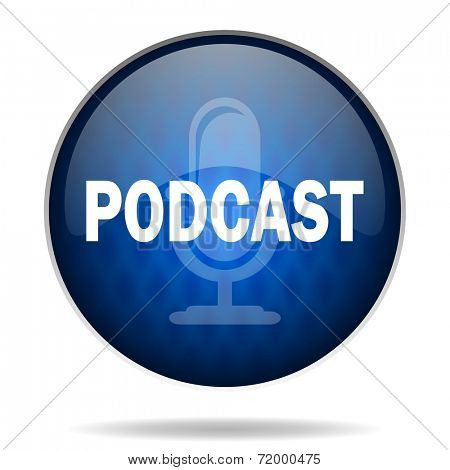 podcast internet blue icon