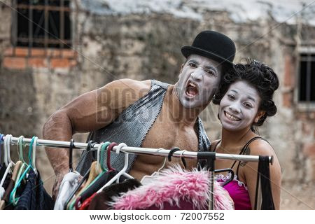 Laughing Attractive Clowns