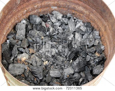Pail Of Charcoal