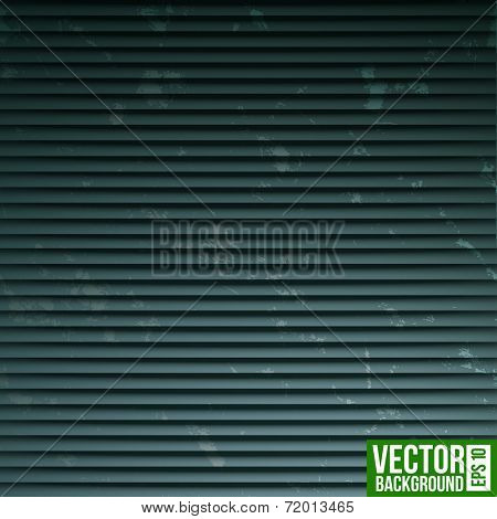 Black metal shutter stripe background. Retro pattern