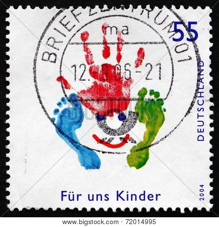 Postage Stamp Germany 2004 Hand And Foot, Footprint
