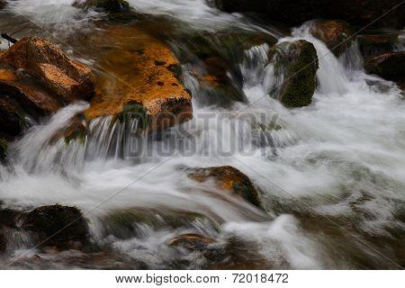 Beautiful waterfall in the national park Sumava