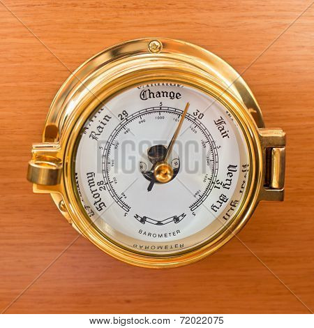 Yacht Barometer Close Up