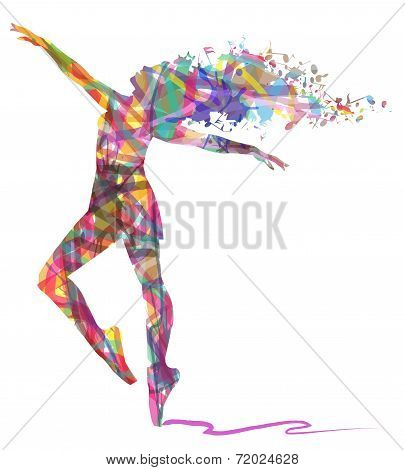 silhouette of abstract dancer