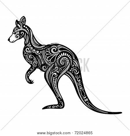 Vector Decorative Kangaroo