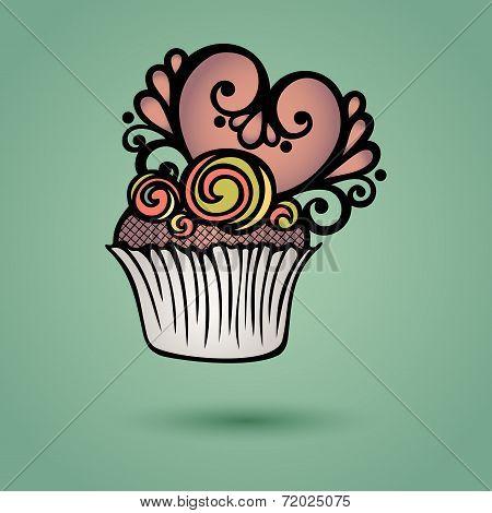 Vector Decorative Ornate Cake