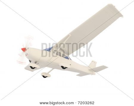 Aircraft Skyline Isolated View