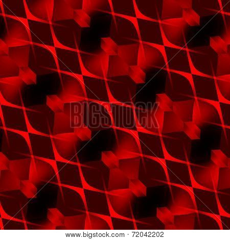 Abstract Red Black Woven Seamless Curves