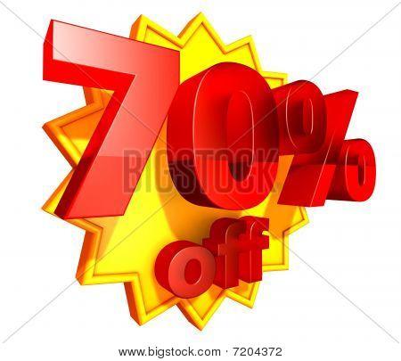 70 percent price off