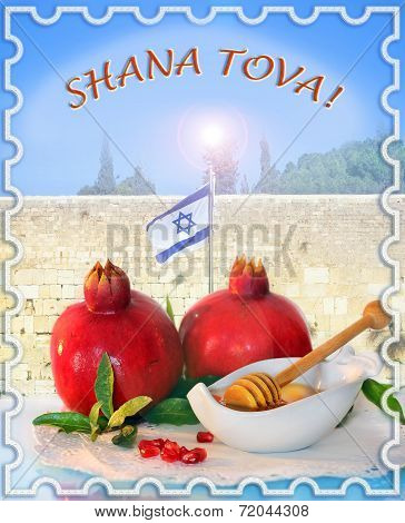 Congratulation To The Holiday Rosh Hashanah, English