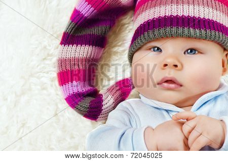 small child with a cap
