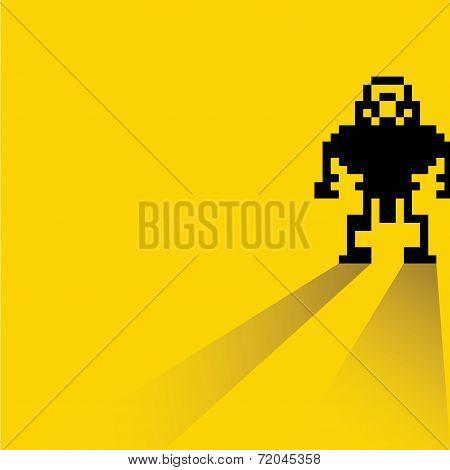 pixel robot