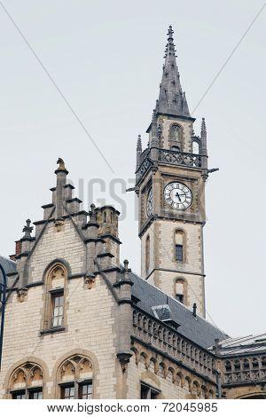 Ancient ornate bulinding in Gent, Belgium