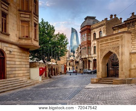 Baku, Azerbaijan - July 24:icheri Sheher (old Town) Of Baku, Azerbaijan, On July 24, 2014, With Grea