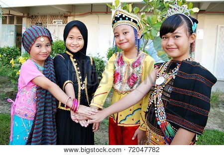 Smiling multiracial children of Malaysia