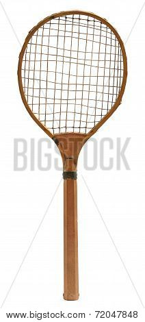 Old Vintage Wooden Tennis Racket