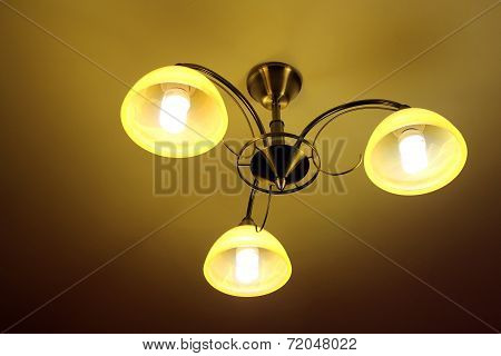Beautiful Chandelier With Three Plafonds