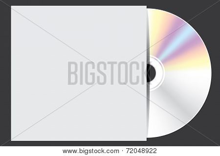 Blank Compact Disc Isolated On White Background With Case