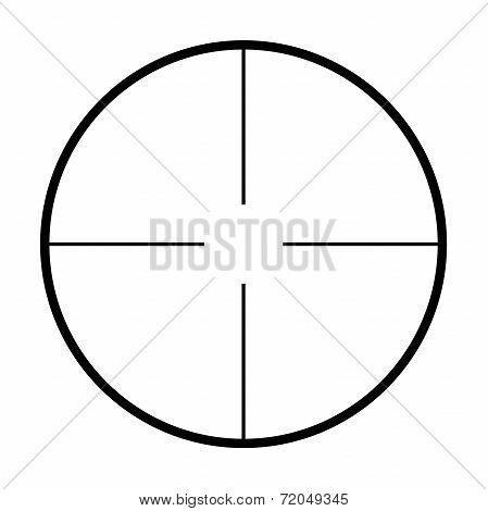 Isolated Crosshairs On White Background